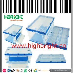 Clear Transparent Plastic Folding Plastic Crate Box pictures & photos