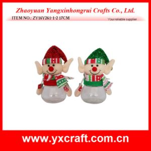 Christmas Decoration (ZY16Y261-1-2 17CM) Handmade Felt Christmas Ornaments pictures & photos