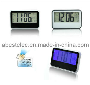 Digital Sound Controlled Desk Clock with Backlight