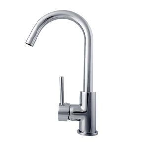 Brass Chrome Deck Mounted Single Handle Kitchen Faucet in Stainless Steel pictures & photos