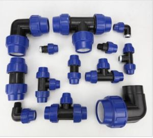 PP Compression Pipe Fitting Water Fluid Quick Male Elbow pictures & photos