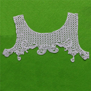 Hot Sale Water Soluble Cotton Lace Fabric Collar (cn04) pictures & photos