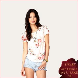 Floral Print Cotton Ladies T-Shirt (S303049)