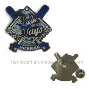 Baseball Lapel Pin Infilling Sparkle Color