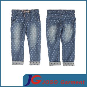 Manufacture Kids Dotted Denim Wear Jean Trousers (JC5165) pictures & photos