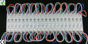 Factory Supply High Quality SMD5050 LED Module 3 LED 5 LED, 12V Red Blue Red RGB LED Module pictures & photos
