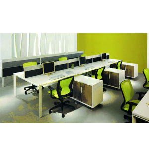 MFC Fireproof Plywood Staff Partition Desk (PS-P59) pictures & photos
