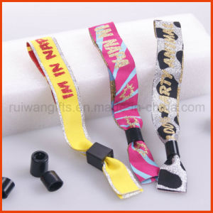 Promotional Party Glitter Fabric Woven Wristband (PBR025) pictures & photos