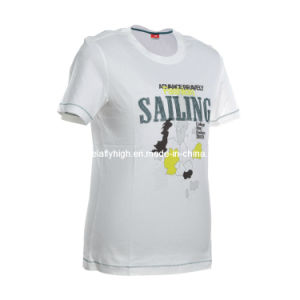 Ladies White Short Sleeve T-Shirt pictures & photos