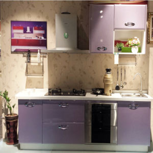 Purple Metal Baking Lacquer for Apartment Kitchen Cabinet Furniture pictures & photos