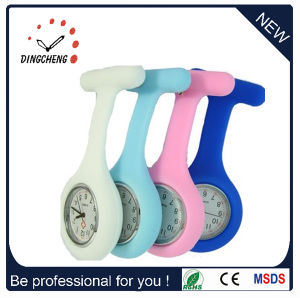 Colorful Silicone Gel Waterproof Nurse Watch Medical Watches Brooch Watches (DC-128) pictures & photos