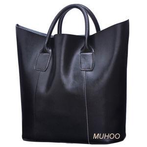 Fashion Black Leather Handbag Shoulder Bag (MH-6064) pictures & photos