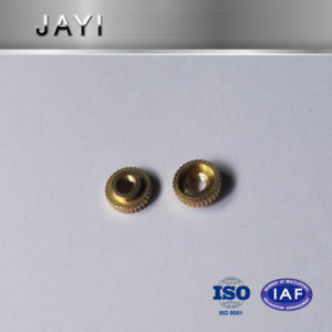 Thin Copper Nut for Inserting, Straight Knurling, Brass Nuts pictures & photos