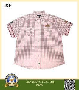Mens 100% Organic Cotton Plaid Short Sleeve Casual Shirt