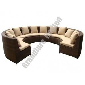 PE Wicker Round Corner Sofa Sets (GHY001)