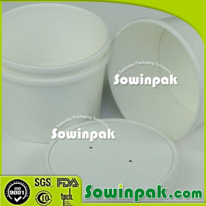 Plain White Soup Container with Lid