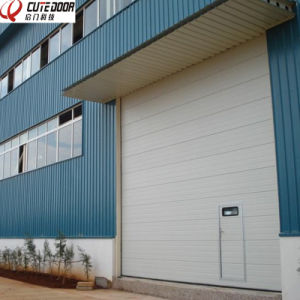 Industrial Safely Automatic Sectional Garage Door with Good Insulation Panel pictures & photos