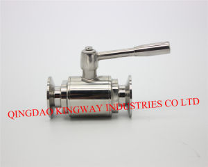 Sanitary Direct Way Clamped Ball Valve. pictures & photos