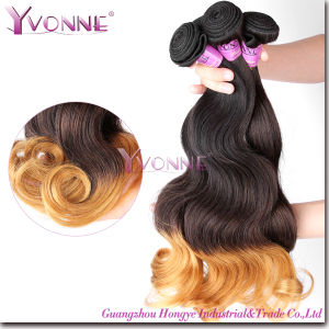 Ombre Hair Weaves, Grade 5A Body Wave Peruvian Human Hair pictures & photos
