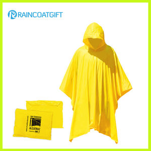 Waterproof Yellow PVC Rain Poncho pictures & photos