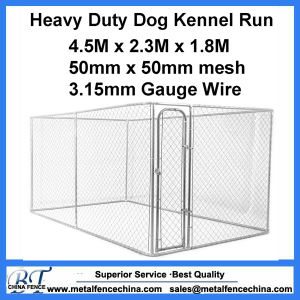6FT Black Welded Easy to Assemble Chain Link Dog Panels pictures & photos