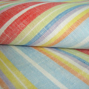 Linen Cotton Stripes and Checks Fabric pictures & photos