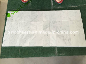 "Good Price of 6""X3"" Italy White Carrara Marble Tiles pictures & photos"