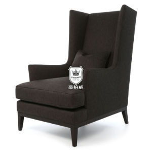 Popular Classic Hotel High Back Wing Chair pictures & photos