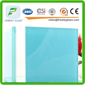 12.38 Blue Laminated Glass/Colored Toughened Bulletproof Laminated Glass pictures & photos