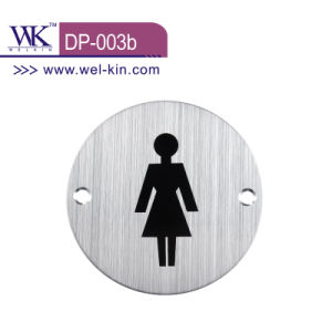 Women′s Door Sign Plate for Bathroom (DP-003b)