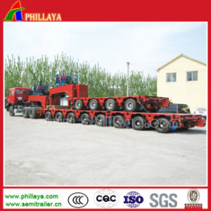Power-Pack Gooseneck 8 Line Modular Hydraulic Low Bed Semi Trailer pictures & photos