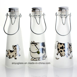 Glass Milk Bottles with Swing Top Cap for Beverqage pictures & photos