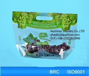 Grape Packaging Bag with Handle or Ziplock for Fresh Fruit Packaging pictures & photos