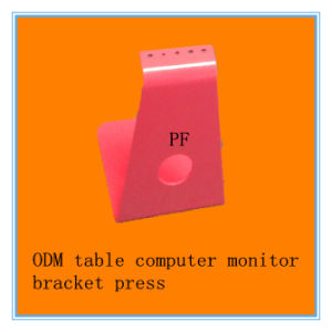 Pink Printed Computer Display Stand Press Process China Supplier