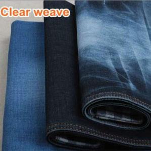 Cotton Twill Indigo/Black Denim Fabric pictures & photos