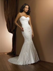 Best Selling Chiffon with Lace Mermaid Fishtail Wedding Dresses (WD10047) pictures & photos