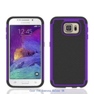 Hot Selling PC + Silicone Hybrid Bling Gypsophila Mobile Phone Case Cover for Samsung Galaxy S6