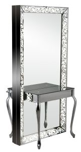 Carving Lighted Full-Length Double Sided Salon Styling Mirror Station (MY-B050) pictures & photos