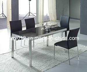 Modern Tempered Glass Top Dining Table Sets (CT-98 CY-115) pictures & photos