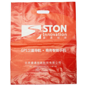 Printed LDPE Carrier Plastic Bags for Supermarkets (FLD-8564) pictures & photos