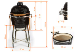Charcoal Kamado Ceramic Kebab Grill