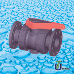 PVC Double Union Ball Valve with Flange pictures & photos