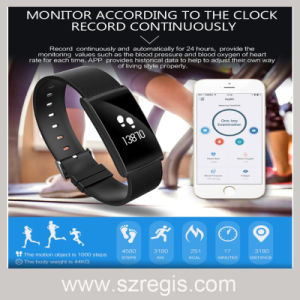 Blood Pressure Heart Rate Monitoring Waterproof Smart Bluetooth Bracelet pictures & photos