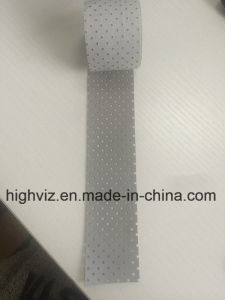 Silver Polyester Holes Reflective Tape pictures & photos