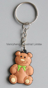 Guangzhou Manufacture Customized Silicon Keychain with Emoji pictures & photos