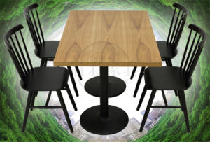 Hot Sale Modern Dining Table and Chair (KCZ001)