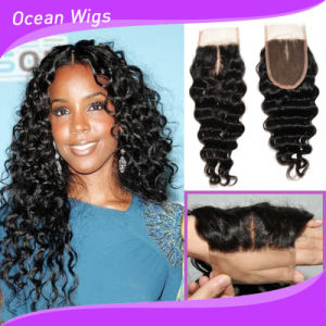 Top Quality Brazilian Hair Silk Top Lace Closure pictures & photos