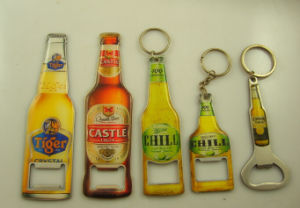 Promotional Stainless Steel Opener with Keychain Design pictures & photos