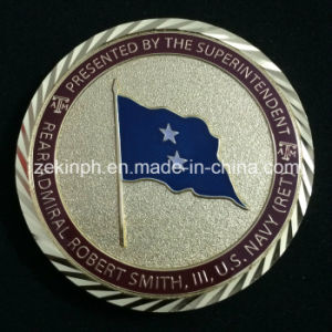 Factory Customized Shiny Gold Metal Coins with Diamond Edges pictures & photos