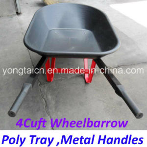 America 4cuft Poly Tray Metal Handles Wheelbarrow for Gardenning pictures & photos